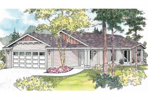 Cottage House Plan - Lindley 30-546 - Front Elevation