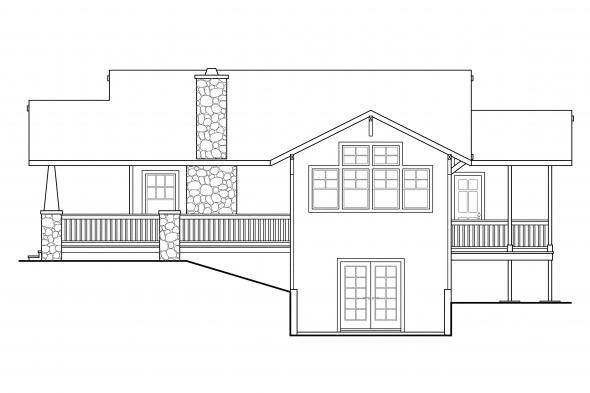 Cottage House Plan - Lone Rock 41-020 - Right Elevation
