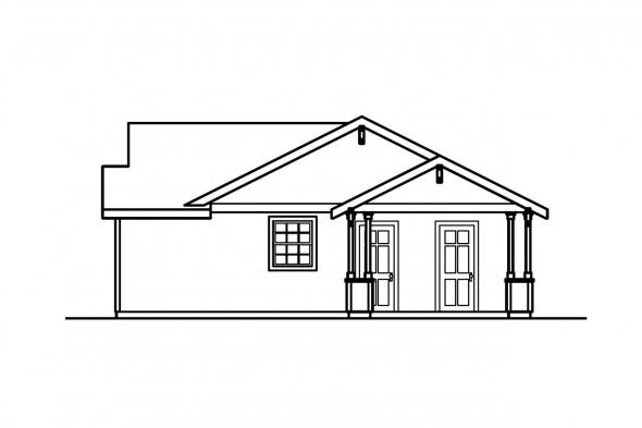 Cottage House Plan - Mattson 30-195 - Right Elevation