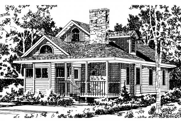 Cottage House Plan - Mazaruni 41-007 - Front Elevation