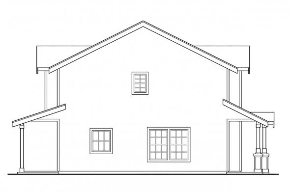 Cottage House Plan - Philipsburg 60-030 - Left Elevation