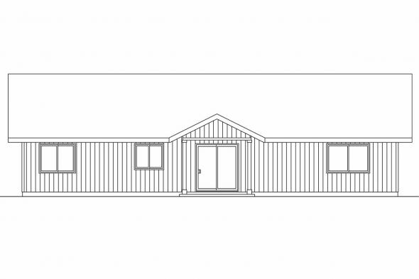 Cottage House Plan - Prichard 30-701 - Rear Elevation