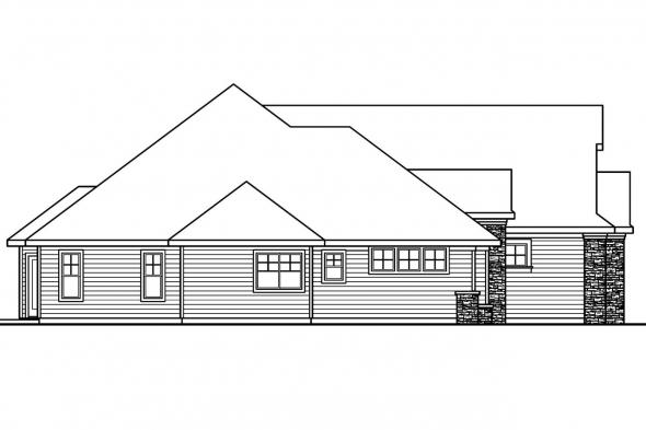 Cottage House Plan - Saddlebrook 30-616 - Left Elevation