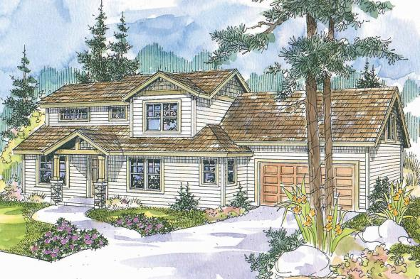 Cottage House Plan - Stapleton 30-478 - Front Elevation