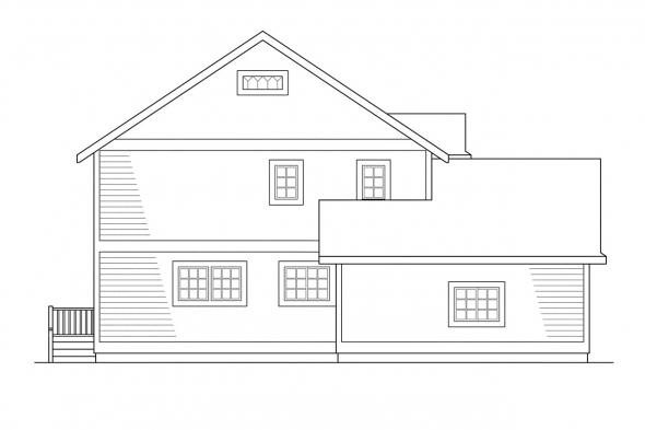 Cottage House Plan - Washburn 10-093 - Left Elevation