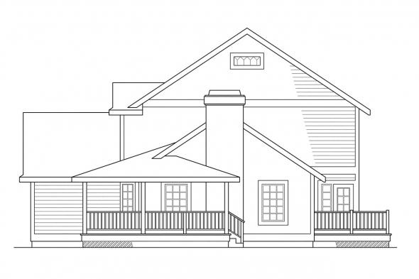 Cottage House Plan - Washburn 10-093 - Right Elevation