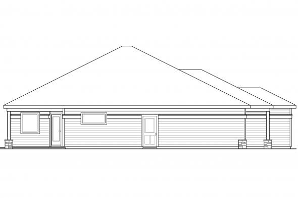 Cottage House Plan - Westfall 30-944 - Left Elevation