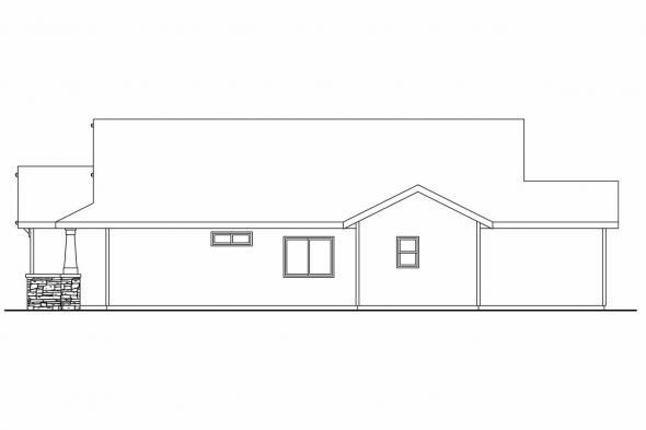 Cottage House Plan - Westwood 30-693 - Right Elevation