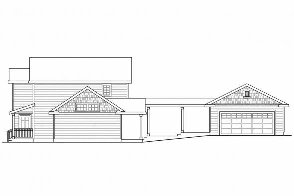 Cottage House Plan - Ellisville 30-588 - Right Elevation
