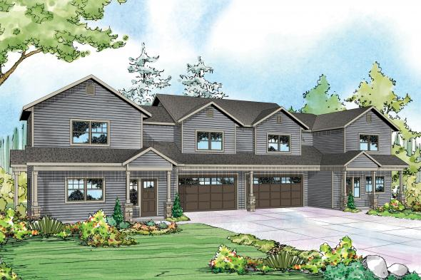 Duplex Plan - Warrendale 60-036 - Front Elevation