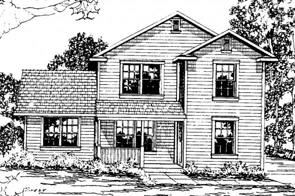 Country House Plan - Alder 30-111 - Front Elevation