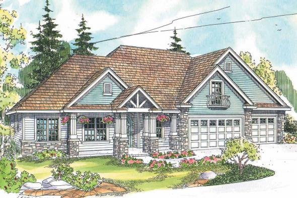 Country House Plan - Allison 30-608 - Front Elevation