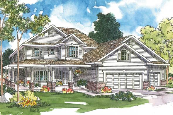Country House Plan - Arundel 30-200 - Front Elevation