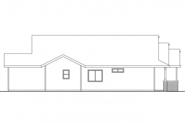 Country House Plan - Barlow 30-694 - Left Elevation