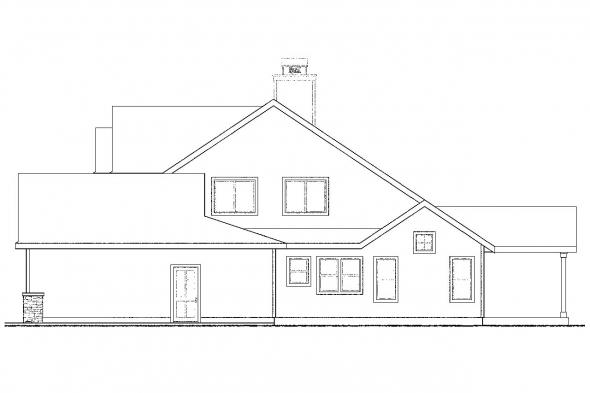 Country House Plan - Belknap 30-771 - Right Elevation