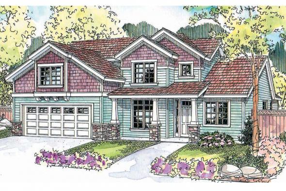 Country House Plan - Brookside 30-613 - Front Elevation