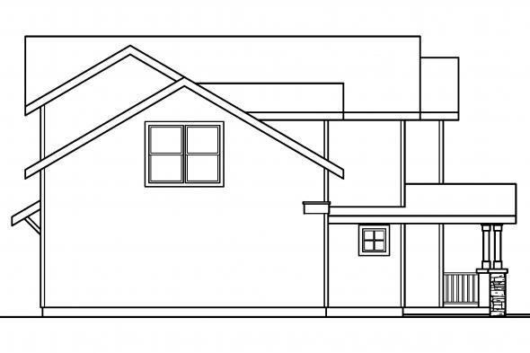 Country House Plan - Calhoun 30-479 - Left Elevation