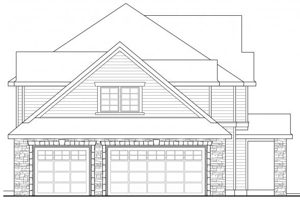Country House Plan - Cartwright 30-556 - Left Elevation