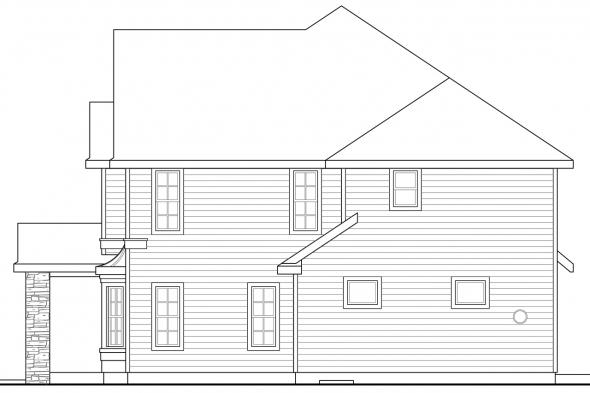 Country House Plan - Cartwright 30-556 - Right Elevation