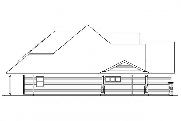 Country House Plan - Claredon 30-564 - Left Elevation