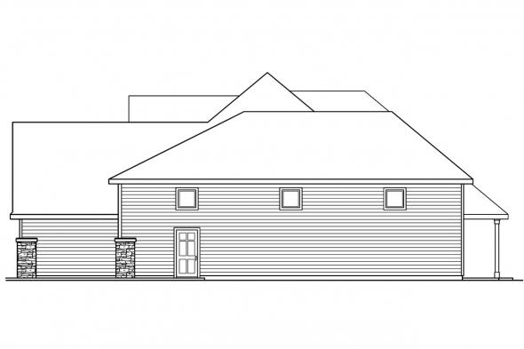 Country House Plan - Claredon 30-564 - Right Elevation