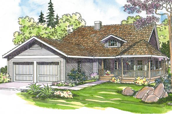 Country House Plan - Cortland 10-195 - Front Elevation