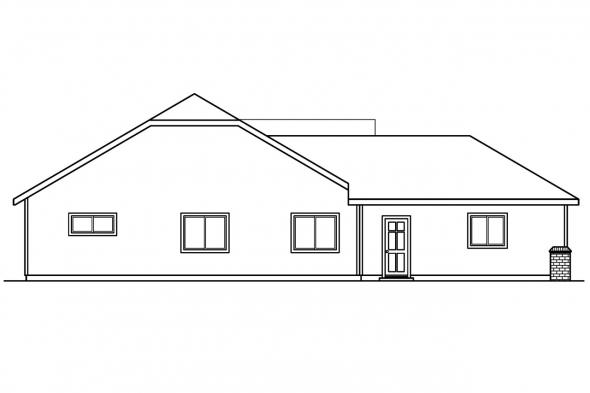 Country House Plan - Dayton 30-249 - Left Elevation