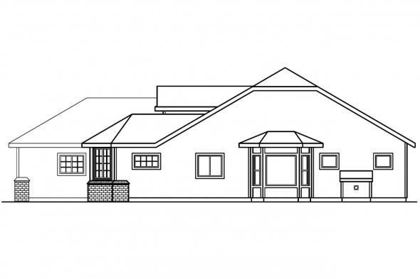 Country House Plan - Dayton 30-249 - Right Elevation