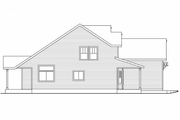 Country House Plan - Elkhorn 30-733 - Left Elevation