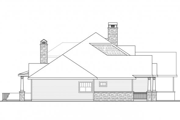 Country House Plan - Etheridge 30-716 - Left Elevation