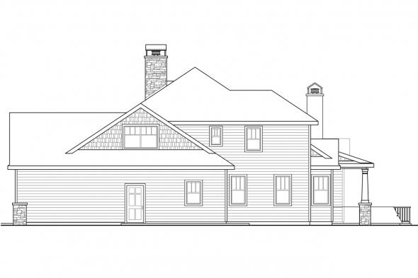 Country House Plan - Etheridge 30-716 - Right Elevation