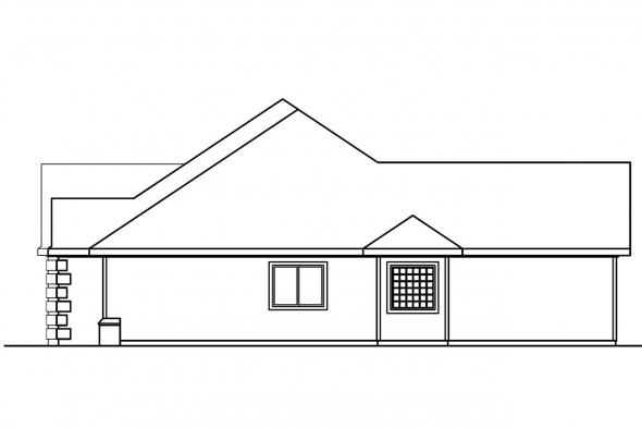 Country House Plan - Finley 30-364 - Right Elevation