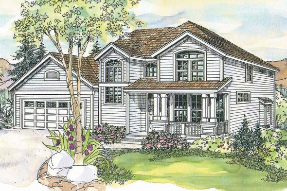 Country House Plan - Frederick 30-507 - Front Elevation