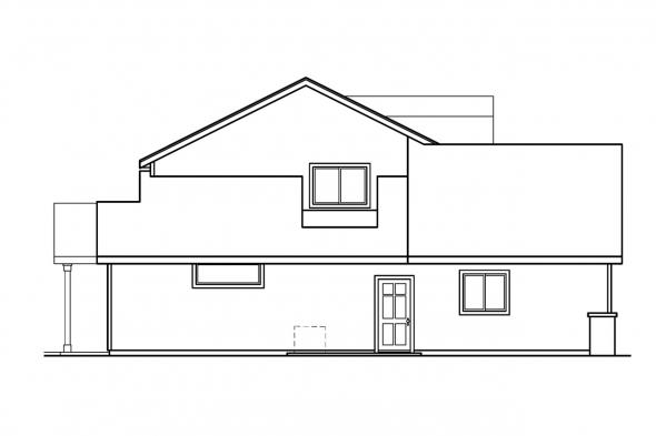 Country House Plan - Garrison 30-414 - Left Elevation