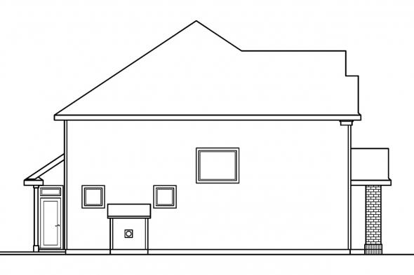 Country House Plan - Glenhurst 30-372 - Left Elevation