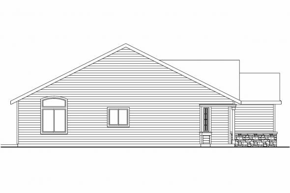 Country House Plan - Granbury 30-662 - Left Elevation