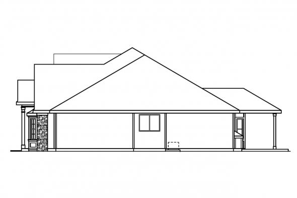 Country House Plan - Hargrove 30-409 - Right Elevation
