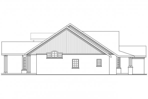 Country House Plan - Heartsong 10-470 - Left Elevation