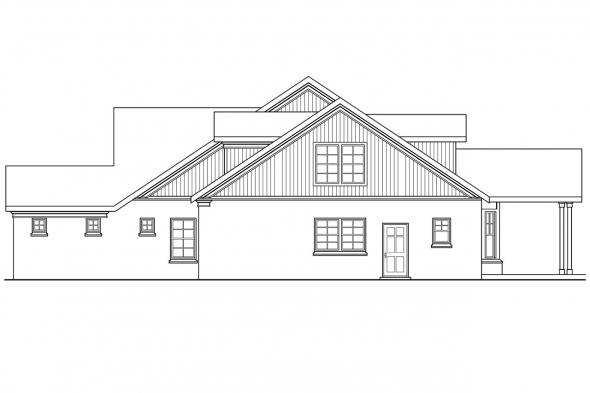 Country House Plan - Heartsong 10-470 - Right Elevation
