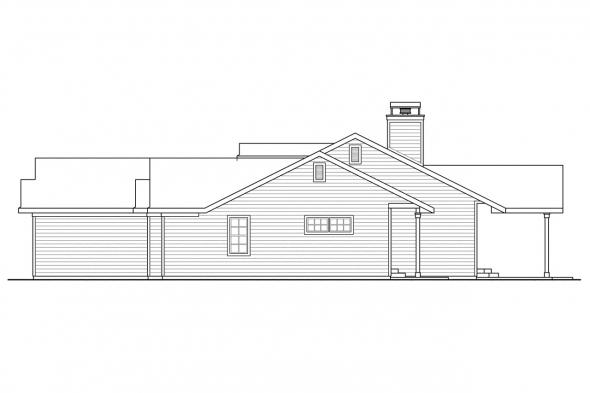 Country House Plan - Heartville 10-560 - Right Elevation