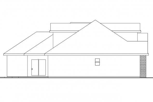 Country House Plan - Hennebery 30-520 - Left Elevation
