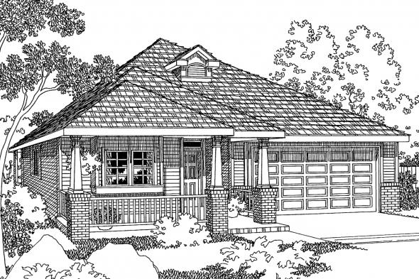 Country House Plan - Holbrook 30-190 - Front Elevation