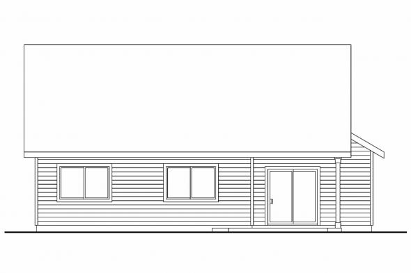 Country House Plan - Holshire 30-635 - Rear Elevation
