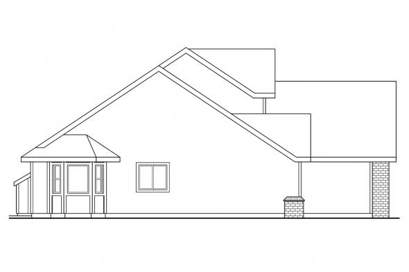 Country House Plan - Jasper 30-141 - Left Elevation