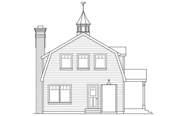 Country House Plan - Jersey 30-070 - Left Elevation