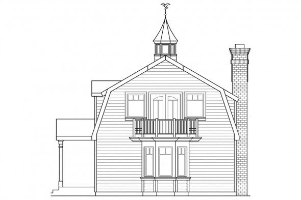Country House Plan - Jersey 30-070 - Right Elevation