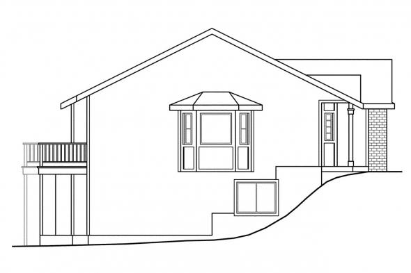 Country House Plan - Kammer 60-022 - Left Elevation