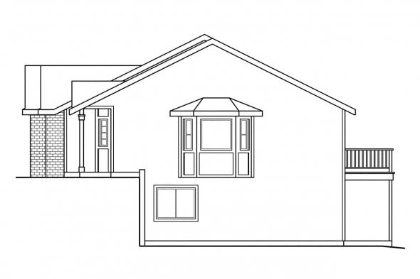 Country House Plan - Kammer 60-022 - Right Elevation