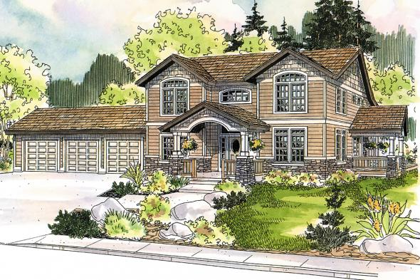 Country House Plan - Kendrick 30-236 - Front Elevation