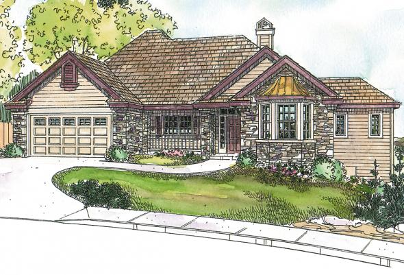 Country House Plan - Lethbridge 30-586 - Front Elevation
